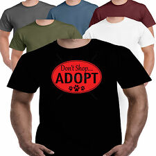 Don't Shop Addopt Rescue Dog T shirt S-3X Clothes Pet Animal Toy Collar Coat Bed