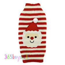 Lovely Puppy Pet Cat Dog Striped Sweater Knitted Coat Apparel Clothes Christmas