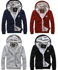 Men&Women Winter Sweatshirts Warm Jackets Thick Velvet Hooded Zip Coat Hoodies