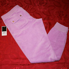 New $88 Juicy Couture Heliotrope Slim Fit Low Waist Banded Cuff Pant Size S M XL
