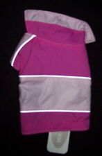 COMPANION ROAD PINK DOG COAT W/GRAY LINING/VELCRO  NWT!