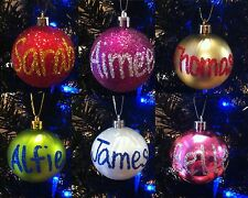 Personalised Christmas Bauble / Tree Decoration. Any name. Combined P&P