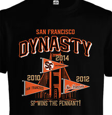 SF San Francisco Dynasty Pennant T shirt Giants Style 2014 Playoffs World Series
