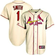 2014 Ozzie Smith St Louis Cardinals Alternate Ivory Jersey Men's (S-2XL)
