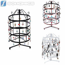 Songmics 4-Tier Metal Rotating Jewelry Stand Earring Necklace Display Holder