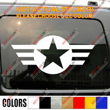 USMC US Army Star Vet Veteran Military Car Trunk Decal Sticker Fit Jeep etc