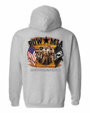 UNISEX ZIP UP HOODIE Pow Mia All Gave Some, Some Gave All USA MILITARY HEROES