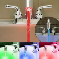 Water Tap Glow Shower LED Faucet Light Temperature Sensor 3Color RGB Colorful