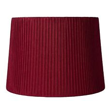 "Urbanest Faux Silk Box Pleated Drum Lampshade,12""x14""x10"",Spider Fitter 7 colors"