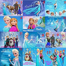 Disney Frozen Edible Image Icing Frosting Sheet Custom Cake or Cupcake Topper