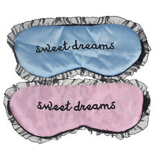 Applied New Cute Lace Sleeping Eye Mask Blindfold Shade Sleep Aid Satin
