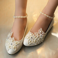 Gorgeous Ankle Pearl Wedding Formal Party Queen Party Prom shoes