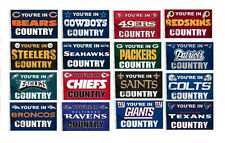 """YOU""""RE IN NFL TEAM COUNTRY  FLAG 3 x 5   ALL NFL TEAMS"""