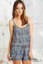 Urban Outfitters Blue Orange Cami Loose Fit Strap Aztec Top  BNWT XS M £28