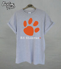 ED SHEERAN T SHIRT TOP RETRO TOUR COOL PAW PRINT MUSIC LEGO HOUSE TEE ALBUM