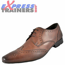 Base London Mens Alexander Leather Formal Brogues Shoes Brown * AUTHENTIC *