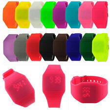 Mens Womens Digital LED Touch Screen Sports Bracelet Waterproof Wrist Watch