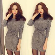 K1BO Sexy Women Knit Jumper Pullover Sweater Bodycon Mini Dress Cocktail Party