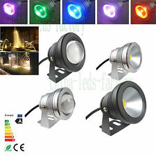 10W Waterproof IP68 RGB LED 12V Underwater Spot Light Pool Pond Aquarium Lamp
