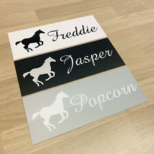 Personalised Horse Stable Door Name Plaque Plastic Sign Plate Xmas Gift Present