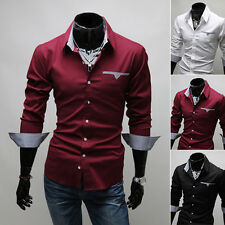 Men's Clothing Casual Dress Cool Button-Front Fit Tee Shirts White Vogue Leader