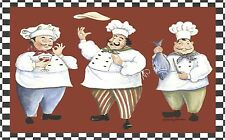 FAT CHEFS  PLACEMATS RUBBER BACKED / FABRIC TOP