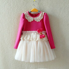 Girls Dresses Fashion Pearl Girl's Baby dress Lace Girls Dress Children's dress