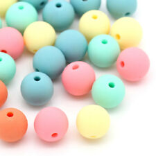 Wholesale Lots Candy Color Acrylic Spacer Beads Round Mixed 9mmx10mm