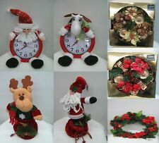 NEW CHRISTMAS X-MAS ACCESSORIES WREATHS, CLOCKS OR ORNAMENT DECORATIONS GIFTS