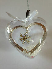 Personalised Heart Bauble Christmas Decoration Message (Nan, Daughter, Family)