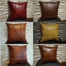 Antique  Pillow Cushion Real genuine Leather sofa decorating pillows Cushions