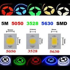STRISCIA A LED 5050 3528 5630 300LED 5M STRIP LIGHT BOBINA LUCE Caldo freddo RGB