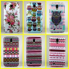 Aztec Printed Owl Hard Skin Back Case Cover For Samsung Galaxy S4 i9500 i9505
