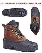 Free Shipping Kingshow Men's 1280 Winter Snow Boots Shoes Leather Waterproof
