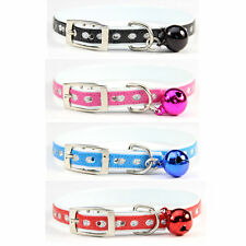 Flashing Leather Cat Collars With Cute Bell Fashion Puppy Pet Products 4 Colors