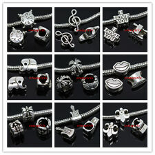 Free Ship 20/40pcs Tibetan Silver big hole Beads Fit Charm Bracelet (Lead Free)