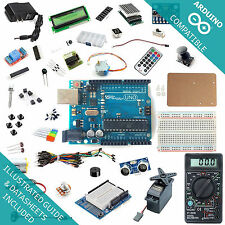 UNO R3 Kit - Starter to Ultimate -  Arduino Compatible, LCD, Breadboard, Sensor