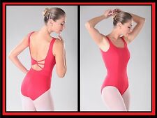 NEW! WOMENS DANCE BALLET LEOTARD WITH RHINESTONES ON BACK. 3 COLORS! (D316)