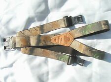 """1 1/2 """" Perry Style Hardwood Green' and 'Hardwood' Camouflage Suspenders"""