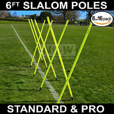 **Spring Loaded** Slalom Poles 6FT Agility/Speed Training Football/Rugby