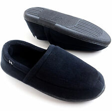 Isotoner Men's Microterry Slip-On Slippers Black Size M L XL 2XL Retail:$36