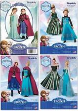 Disney Frozen Snow Queen Costume Elsa Anna Simplicity Sewing Pattern New U Pick