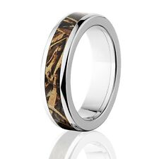 Official Licensed RealTree Max 5 Titanium Ring, Camo Rings, Camo wedding bands