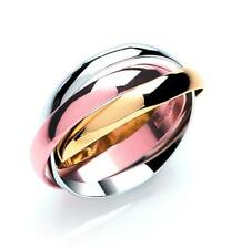 9ct 3 Colour Gold 3mm Russian Wedding Ring.  Sizes F-Z