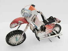 Handmade Recycle Tin Can Motorbike Motorcycle Bike Ornament Sculpture Model Gift