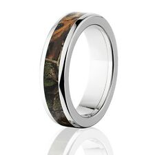 Official Licensed RealTree Xtra Titanium Ring, Camo Rings, Camo Wedding Bands