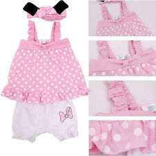 3pcs Girl Baby Infant Headband+Top+Pants Bloomers T-Shirt Outfit Dress Cl NoHCD0