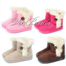 Winter Warm Velvet Thicker Kids Girls Snow Ankle Boots Cotton Children Shoes