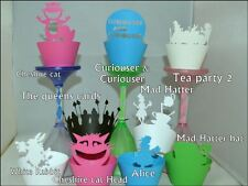 ALICE IN WONDERLAND  THEME CUPCAKE WRAPPERS x12   MAKE YOUR CUPCAKES  LOOK FAB