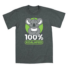 100% Koala-fied Funny Koala Zoo Party Animal Humor Cool Novelty - Mens T-Shirt